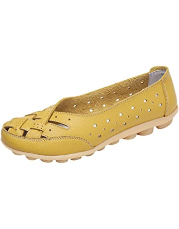 purchase cheap 8b9ad 929cb Sunnywill Chaussures Femme Flats, Cuir Chaussures Casual, Dames Pois Rondes  Chaussures, Sandales Trou