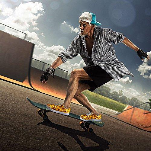För U Designar Coola Mens Graffiti Låg Topp Bekväm Skateboard Skor Spets-up Sneaker Multi 10
