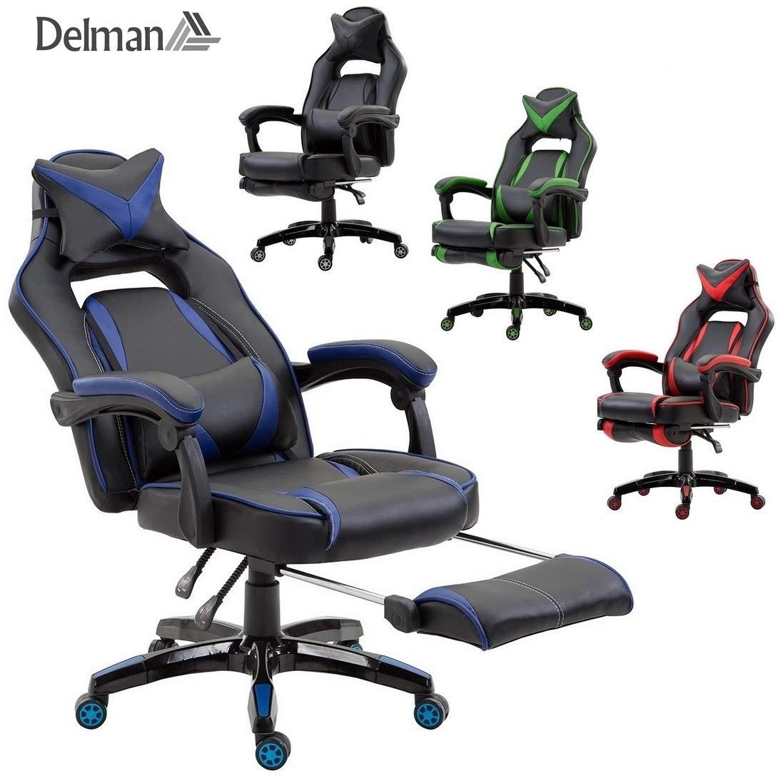 Gaming Stuhl Mit Integrierter Fußstütze Füße Ablegen Und