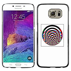 Shell-Star Arte & diseño plástico duro Fundas Cover Cubre Hard Case Cover para Samsung Galaxy S6 / SM-G920 / SM-G920A / SM-G920T / SM-G920F / SM-G920I ( Abstract Lines Poster Pink Grey Wheel )
