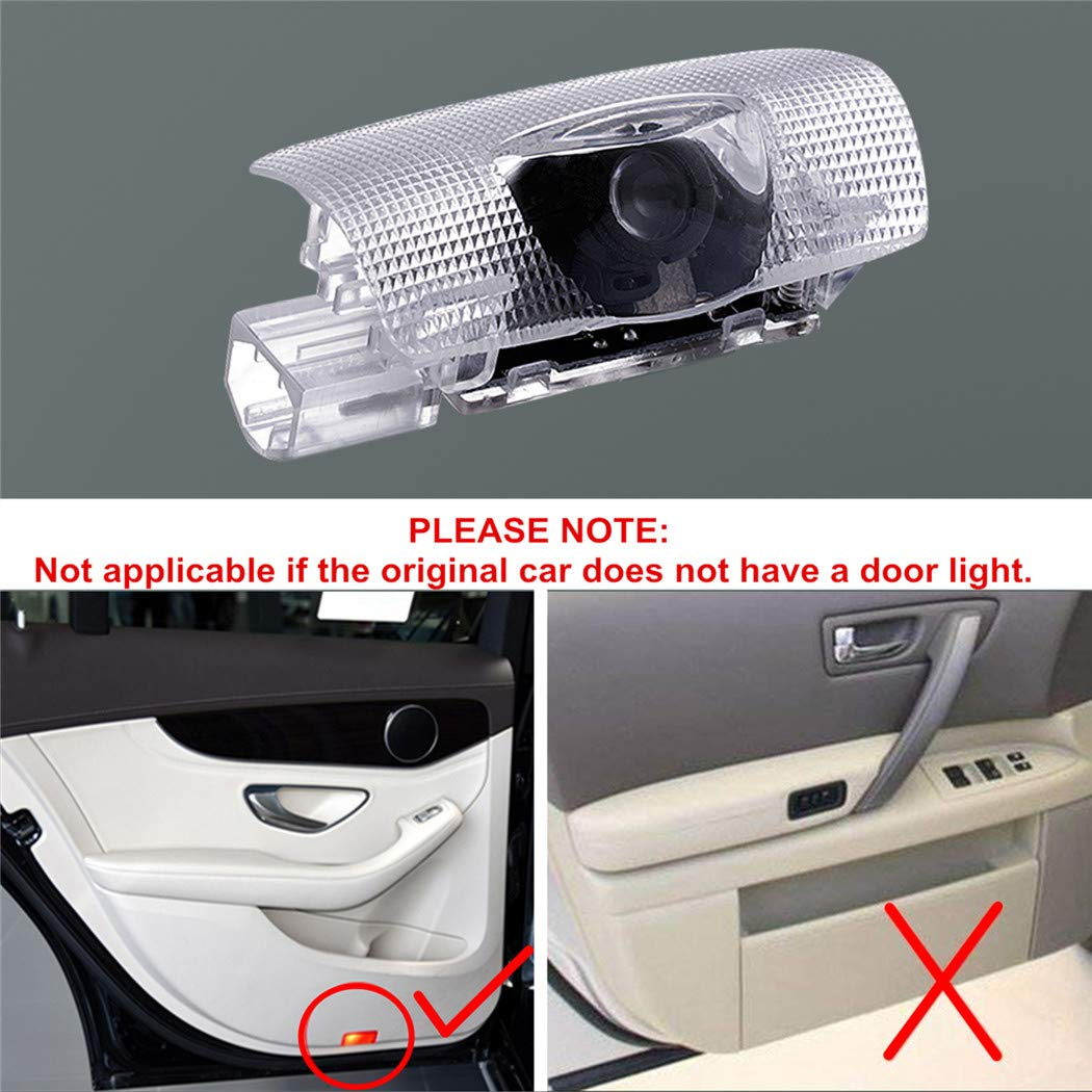 4 Pack Car Door Lights Logo Projector for Lexus RX//ES//GX//LS//LX//IS Series Accessories Ghost Lights Puddle Lights Welcome Lamp Amazing 3D Looking Shadow Lights LED Projection