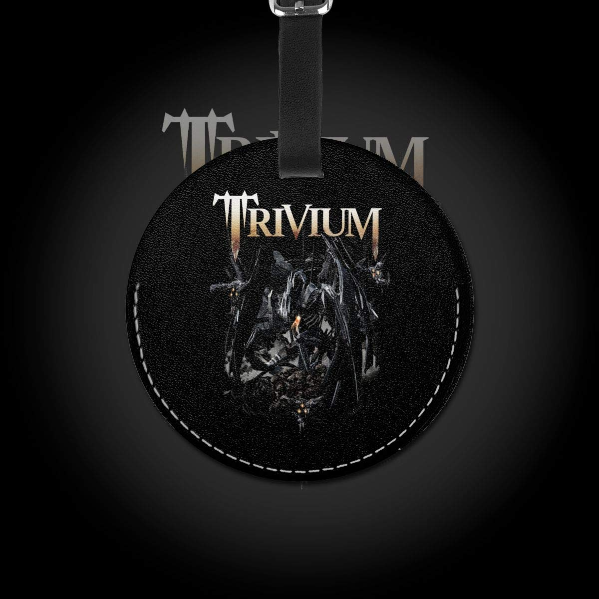 Trivium Travel Leather Round Luggage Tags Suitcase Labels Bag