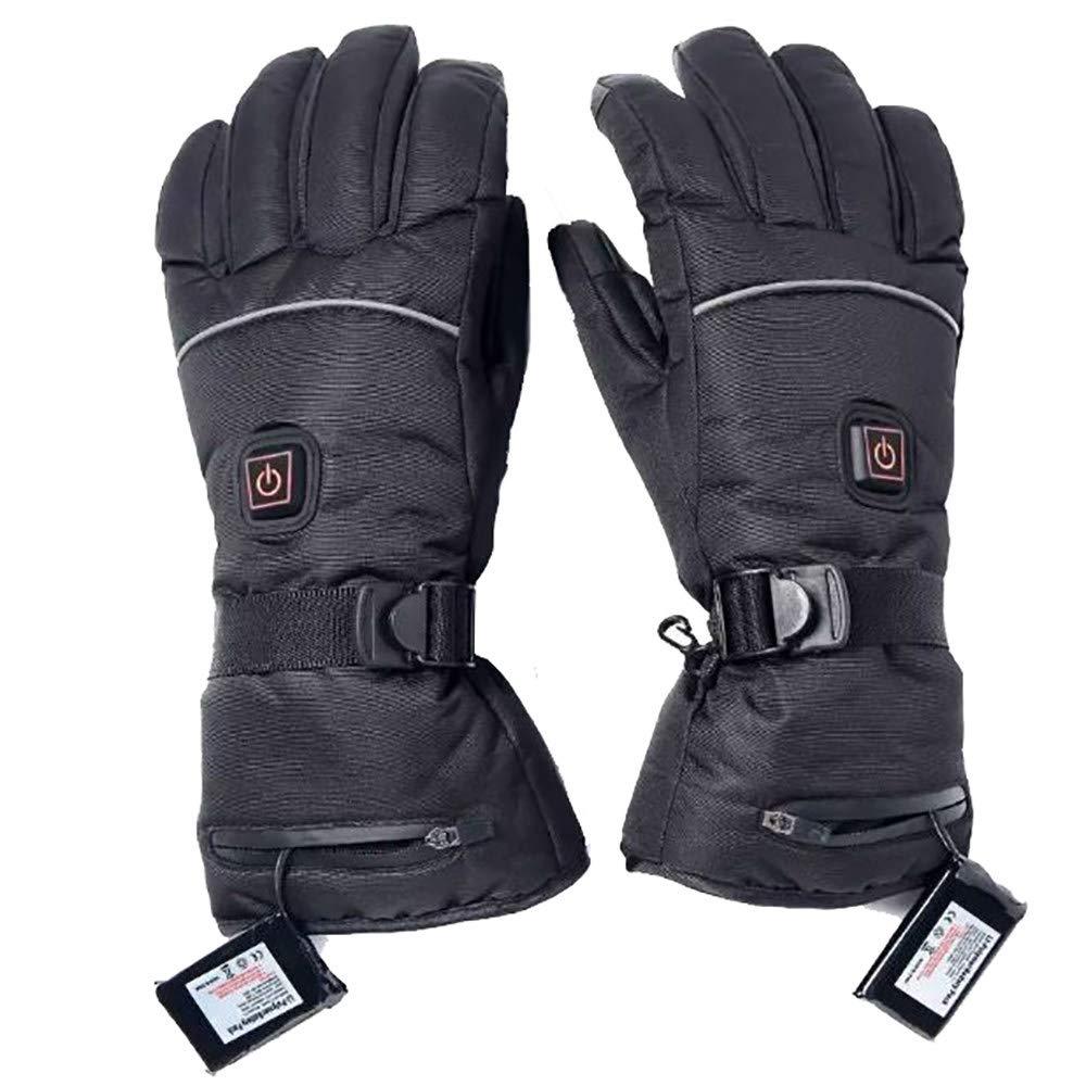 CHHMAELOVE Ski Beheizte Handschuhe,Herren Skihandschuhe,Winter Sporthandschuhe,Mit USB Wiederaufladbare,3-Stufige Temperatureinstellung,FüR Wandern Skitouren,Arbeitet