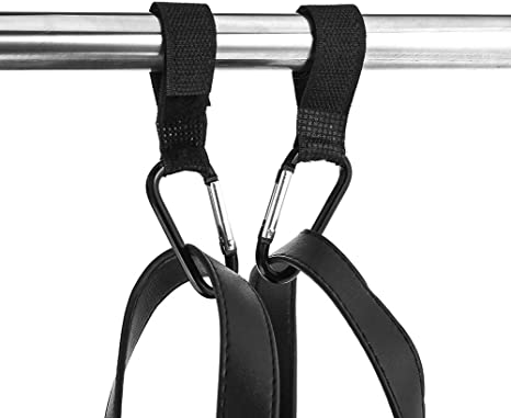 Auxsoul 6 Pieces Baby Stroller Hooks Heavy-Duty Aluminum Alloy Carabiner Clips for Strollers Buggy Clips Stroller Hook Stroller Carabiner Clips for Mommy and Daddy