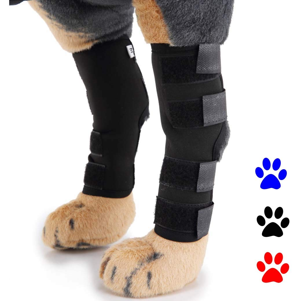 Black Small Black Small Pet Knee Pads Dog Leggings,Pet Dog Knee Pads Dog Leg Support,Hind Leg Injury Recovery Leggings,Surgical Wound Sheath,Black,S