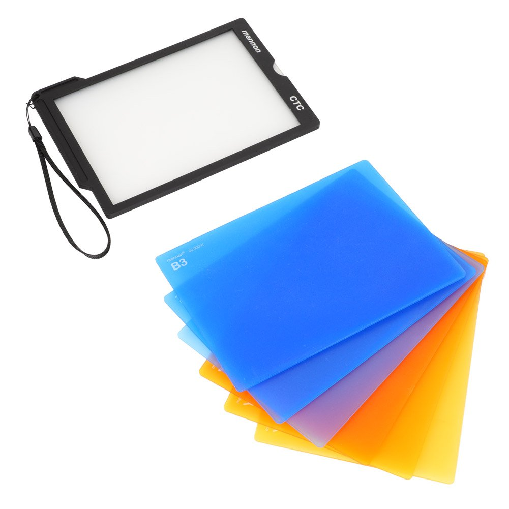 fosa 7 Pieces Photography Camera Color Temperature Colored Square Filter Set with a Filter Holder by fosa