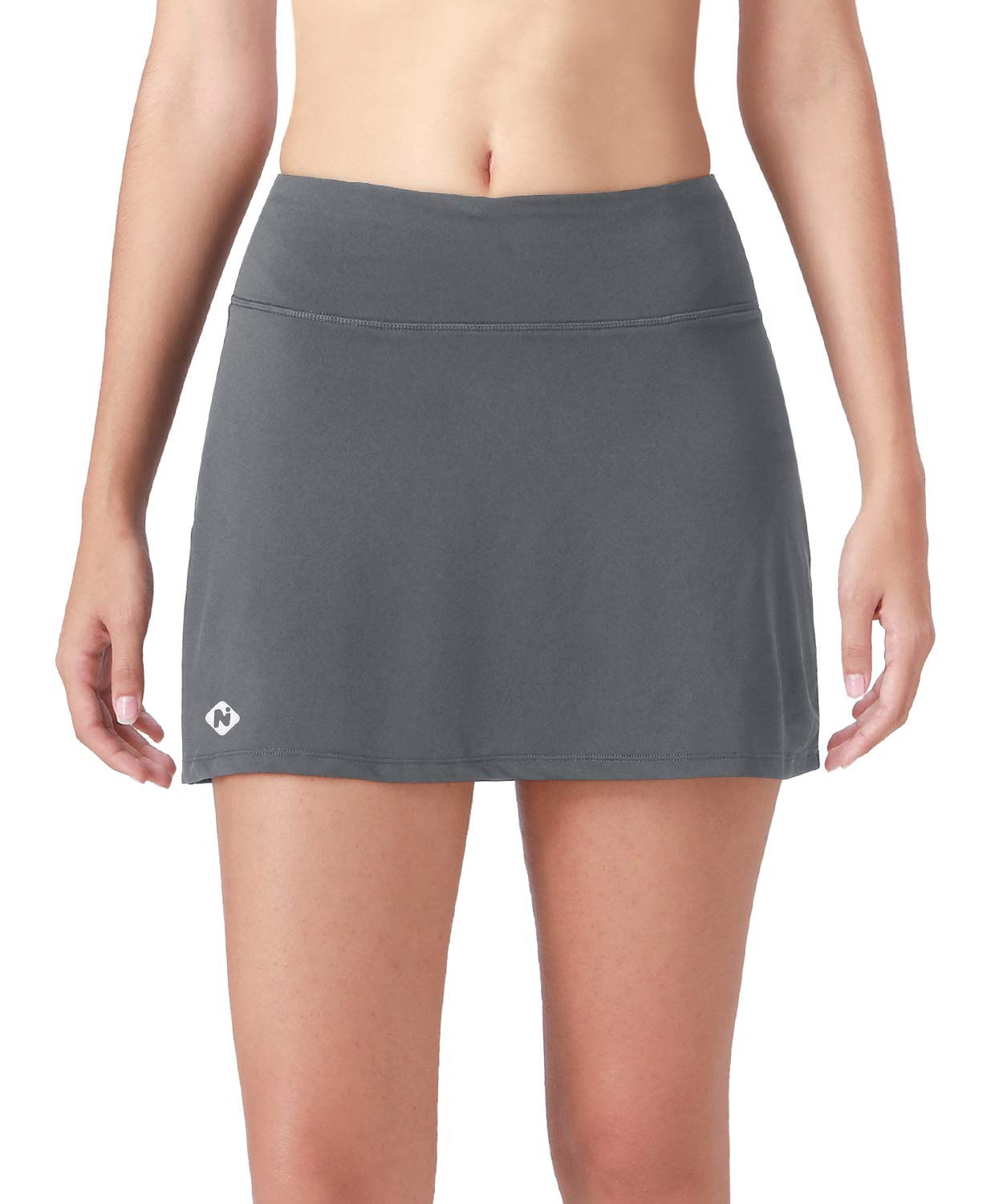 Naviskin Women's Active Athletic Skort Lightweight Skirt with Pockets Inner Shorts Perfect for Running Golf Tennis Workout Casual Use Grey Size M by Naviskin