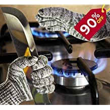 SILACH All-in-One Cooking Gloves Cut Flame Vibration Resistant - KEEP YOU AND YOUR FAMILY HANDS SAFE AT Grilling, BBQ, Baking, Cutting, Shucking! - BREATHABLE, Sizes M - XXXL EASY MACHINE WASHABLE