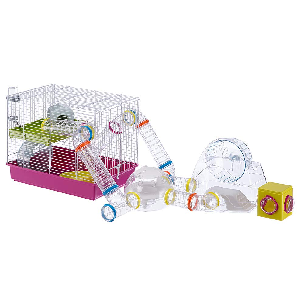 Ferplast Luara Small Hamster Cage | Fun & Interactive Cage Measures Measures 18.11L x 11.61W x 14.8H & Includes All Accessories by Ferplast (Image #13)