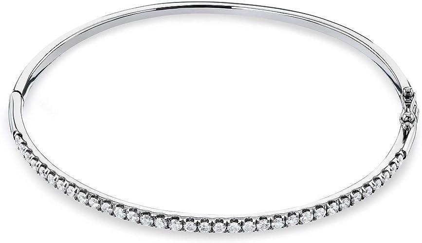 Christopher//Tennis Charm. DiamondJewelryNY Eye Hook Bangle Bracelet with a St