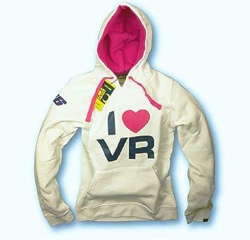 Valentino Rossi MotoGP - I Love Sudadera con Capucha Sudadera con Capucha de Color Blanco: Amazon.es: Deportes y aire libre