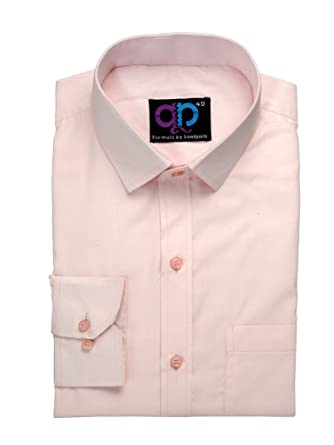 ee512ef1ac2 Koolpals Men Formal Rich Cotton Blend Shirt Pink Solid (42)  Amazon ...