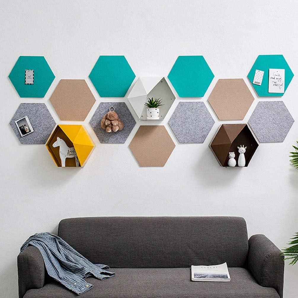 Random Color IMIKEYA 6 Pcs Hexagon Felt Pin Boards Colorful Wall Decorative Felt Boards Bulletin Memo Photo Boards for Home Office