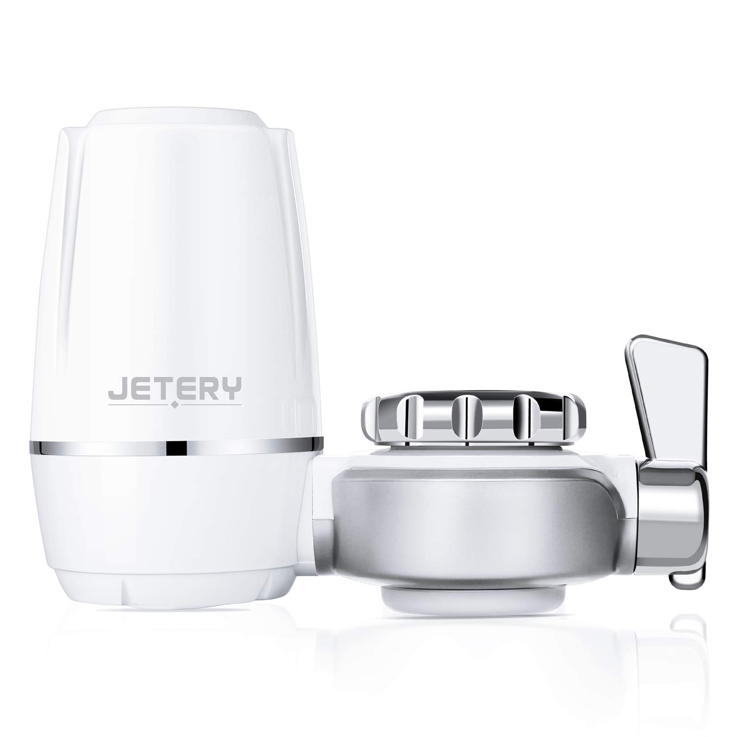 JETERY Faucet Water Filter - 320-Gallon Long-Lasting Tap Water Filtration System with Carbon Fiber Filter for Home Kitchen, Fits Standard Faucets, JT-5140