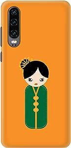 Stylizedd Huawei P30, Slim Snap Basic Case Cover Matte Finish - Japanese Doll