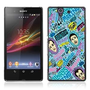 CQ Tech Phone Accessory: Carcasa Trasera Rigida Aluminio Para Sony Xperia Z L36H - Cool Psychedelic Colorful Pattern