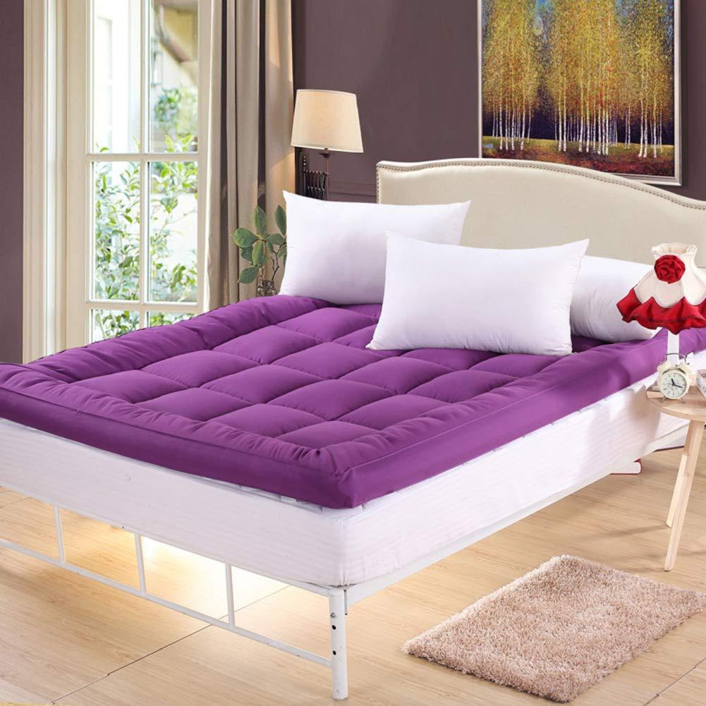 I 90x200cm(35x79inch) Feather Velvet Filling Sleeping Futon Tatami Mattress, Thicken Floor mat Pad Foldable Cushion mats Quilted Non-Slip Mattress Topper-G 120x200cm(47x79inch)