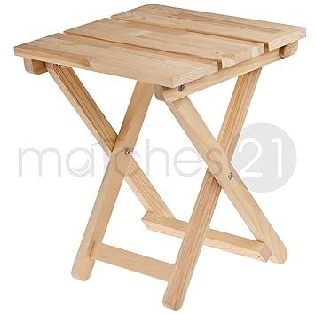 Matches21 Holz Klapphocker Klapp Sitz Kiefer 32x38x40 Cm Bausatz F