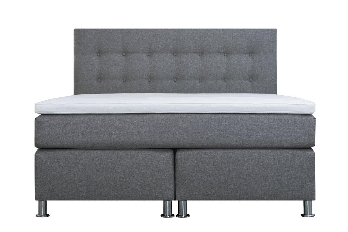 Cama con somier 140 x 200 Ronda, Lux confort, 7 zonas, colchón de muelles ensacados, H2/H3, base de muelles ensacados, cubrecolchón de espuma con funda 3D, ...