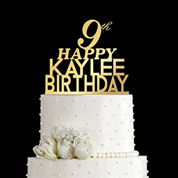 Incredible Amazon Com Kiskistonite 9 Year Cute Cake Toppers Happy Birthday Funny Birthday Cards Online Alyptdamsfinfo