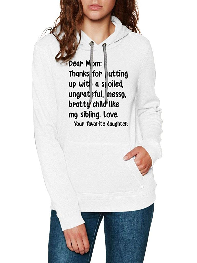 Funny Vintage Trending Awesome Shirt Unisex Style Hoodie SMLBOO Dear Mom Thanks for Putting Up from Daughter