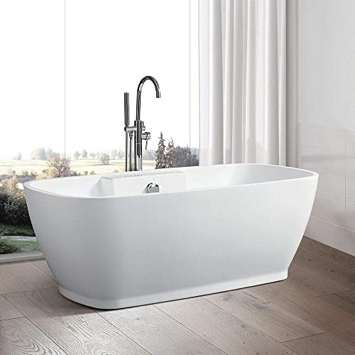 Vanity Art freestanding White Acrylic Bathtub