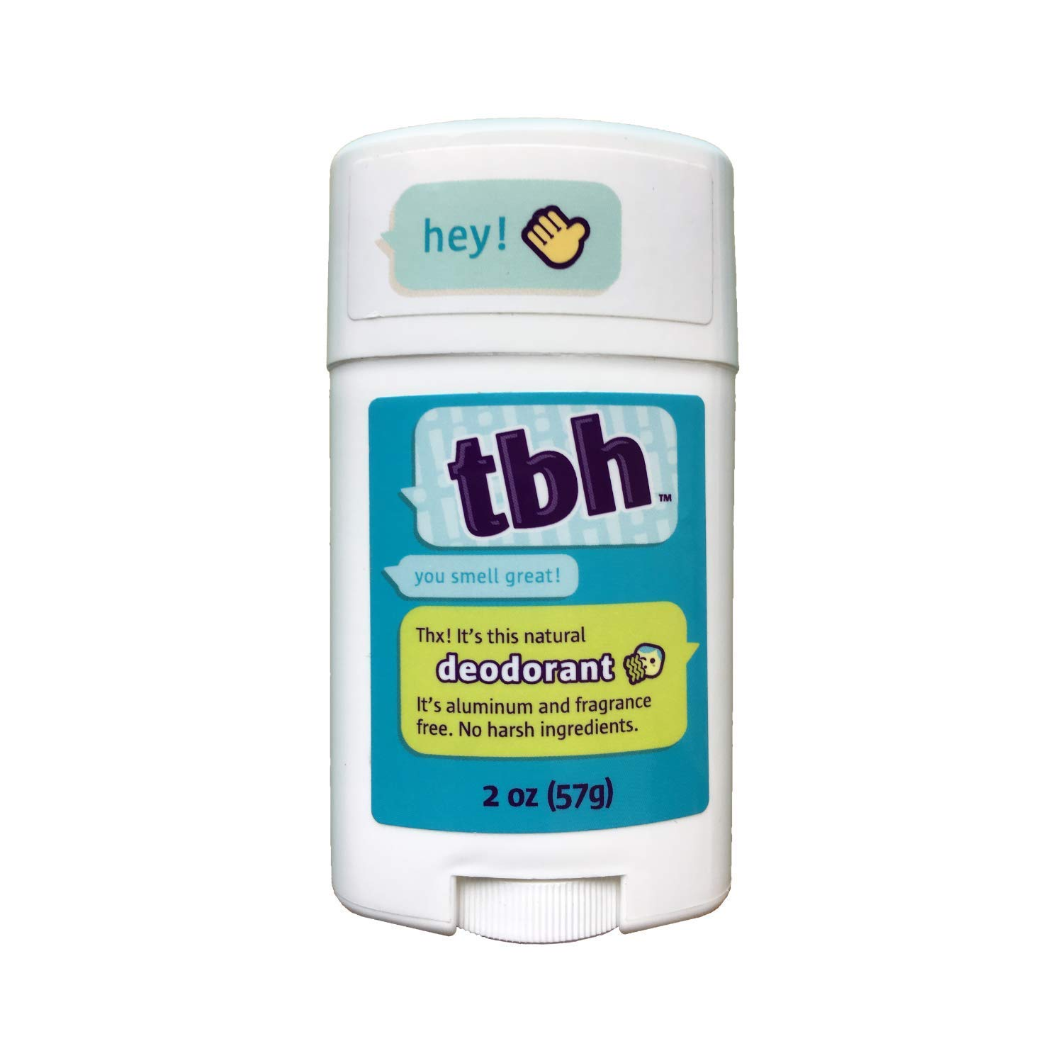 TBH Kids Deodorant - Unscented Deodorant for Kids - Made w/ Natural Ingredients in the USA - Aluminum Free Deodorant - Kids Deodorant Girls and Boys