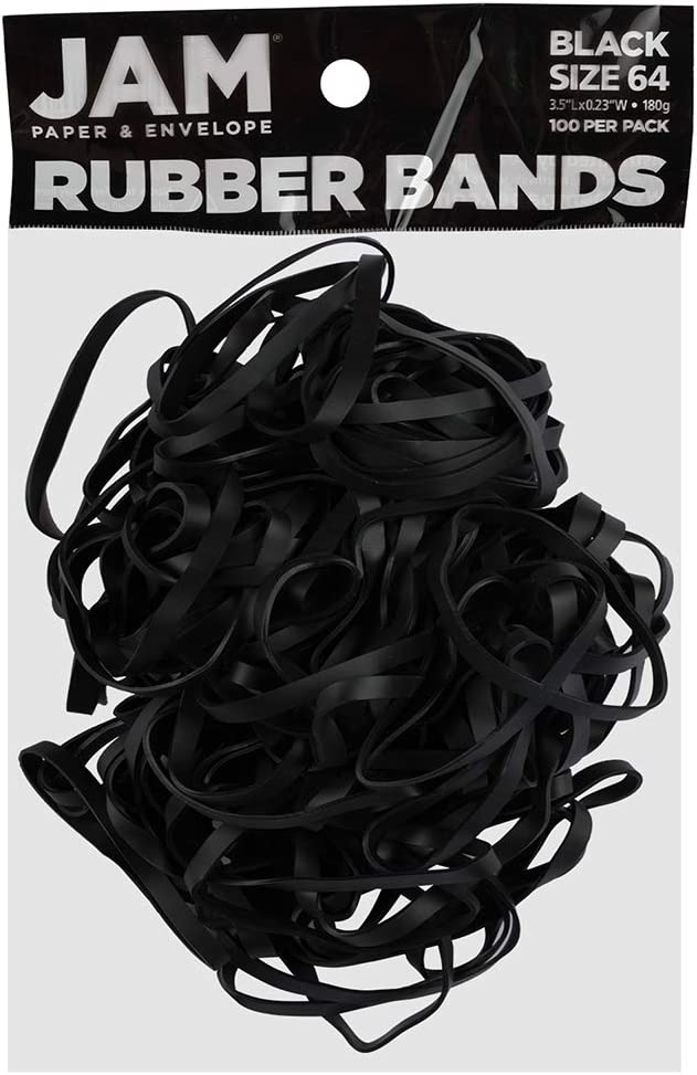 """UV Heat Resistant 3.5/""""x1//4"""" 100 Pack Large Black Fishing Rubber Bands Size #64"""