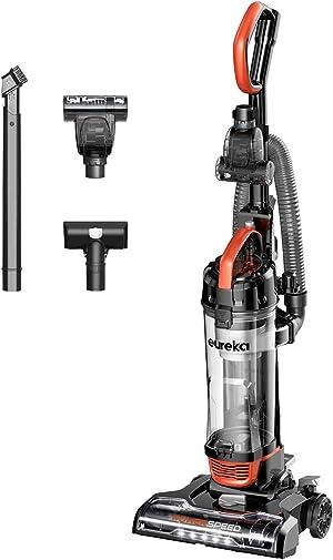 Eureka PowerSpeed Turbo Spotlight Lightweight Upright Vacuum Cleaner, for Carpet and Hard Floor, Pet Tool, Orange