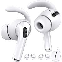 AhaStyle 3 Pairs AirPods Pro Ear Hooks [Added Storage Pouch] Anti-Slip Ear Covers Accessories【Not Fit in The Charging…