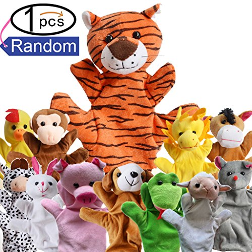 Zinnor Zoo Friends Hand Puppets,Funny Hand Puppets For Kids Plush Hand Puppets For Cartoon Hand Puppets(Random) by Zinnor