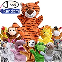Zinnor Zoo Friends Hand Puppets,Funny Hand Puppets For Kids Plush Hand Puppets For Cartoon Hand Puppets(Random)