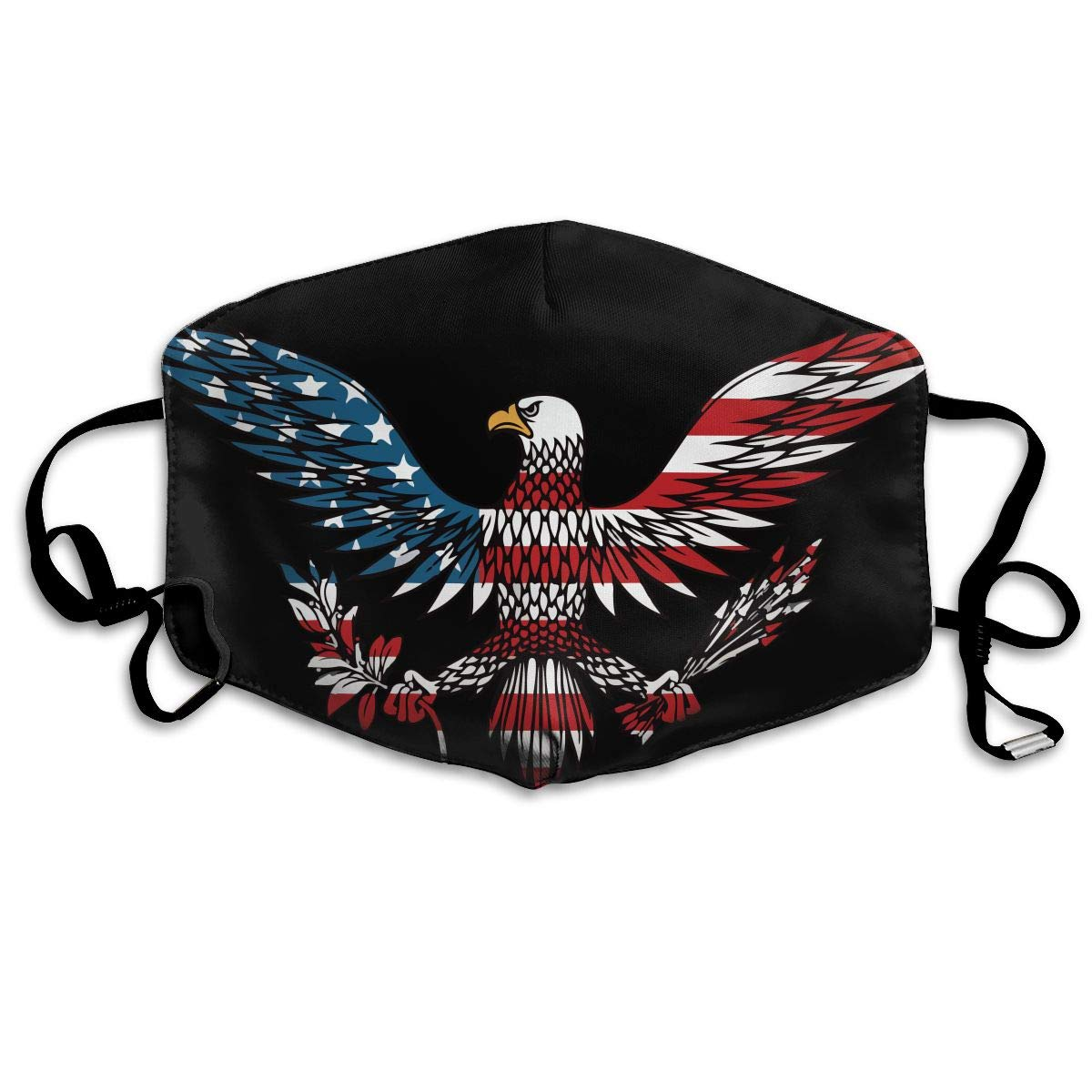 Unisex Eagle Colored in USA Flag Colors Printed Cotton Mouth-Masks Face Mask Polyester Anti-dust Masks