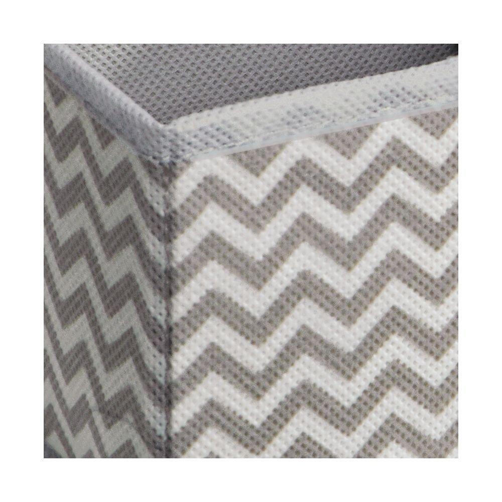 MetroDecor mdesign Juego de 6caja de plástico para armario o cajón–La caja Ideal para ropa, cinturón, Accesorios etc.–de plástico caja con flexibles de zigzag patrón–Beige 1032MDCO