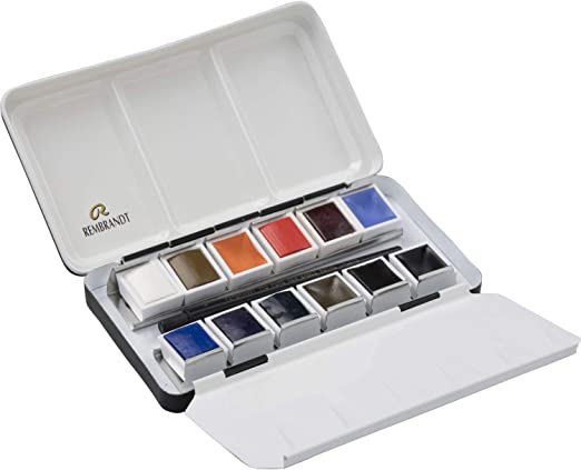 Rembrandt Water Colour Box Cityscape Selection - Caja de Acuarela extrafina (Caja de Metal con 12 recipientes optimizados para paisajes urbanos, Incluye Pincel): Amazon.es: Hogar