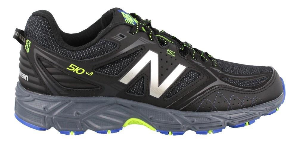 New Balance Hombres del 510 V3 Zapatilla de Trail Running 8 D(M) US|negro/Pacific Toxic