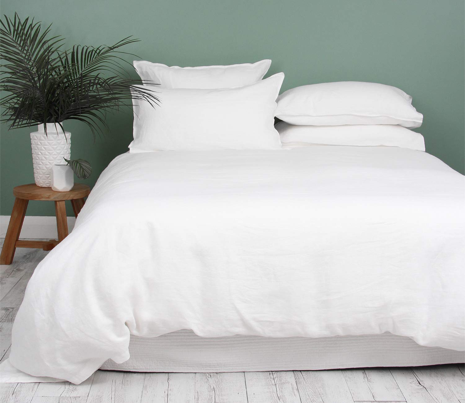 Kotton Culture 600 Thread Count 100% Organic Cotton Duvet Cover with Corner Ties & Zipper Closer GOTS Certified Luxurious, Durable and Hypoallergenic Ultra Soft (King/Cal King, White)