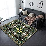 Vanfan Design Home Decorative 148456217 Traditional ornamental floral paisley bandanna You can use this pattern in the design of carpet shawl pillow cushion raster version Modern Non-Slip Doormats Ca