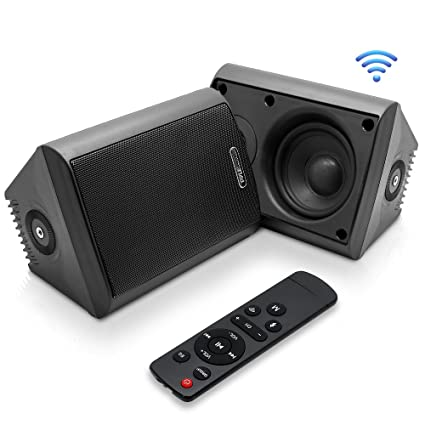 Passive Pair Wireless Bluetooth Active Wall Mount Home Speaker System
