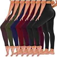TNNZEET 7 Pack High Waisted Leggings for Women - Buttery Soft Workout Running Yoga Pants