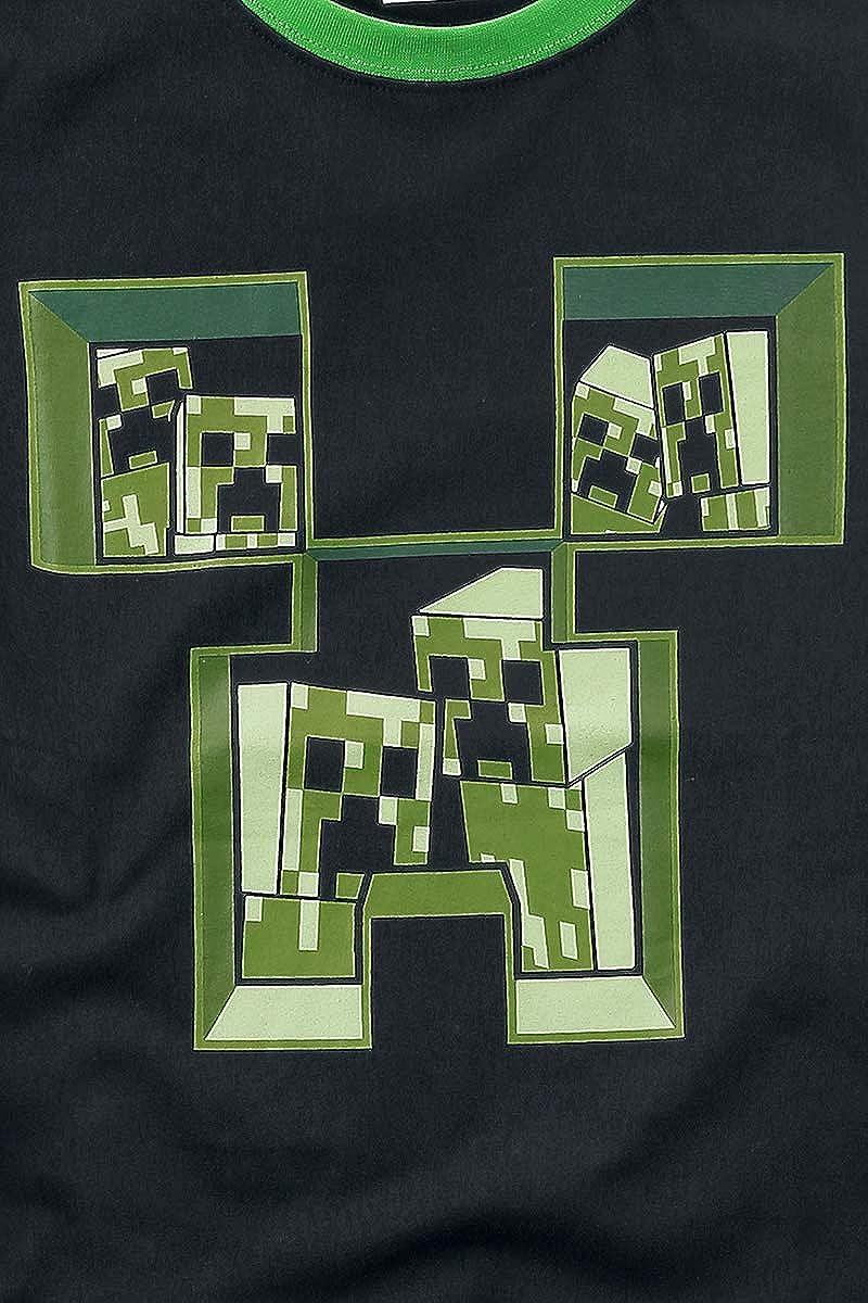 Maglietta per bambini /& Babies Minecraft colore Nero//Verde