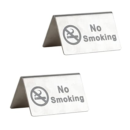 amazon com no smoking sign brushed stainless steel free standing
