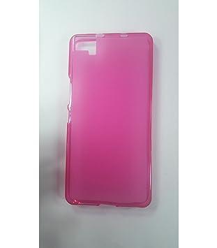 Funda de gel TPU carcasa protectora silicona para BQ Aquaris M5 Rosa