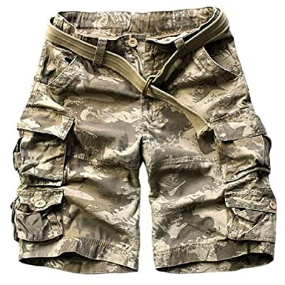 Juanshi Fathers Day Loose Fit Cargo Short Color Waves