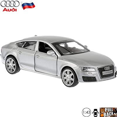 1:43 Scale Diecast Metal Model Car Audi A7 Gray Russian Die-cast Toy Cars: Toys & Games