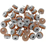"""40pcs Furniture Glide,Screw-on Felt Pad Slider Floor Protector for Wooden Leg Feet of Chair Table Sofa(Φ24mm or 0.95"""",Brown)"""