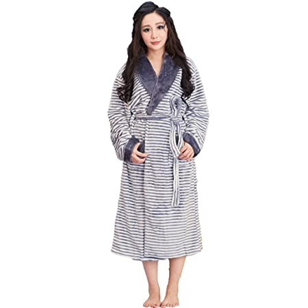 GJM Shop cotton with pockets bathrobe---- Autumn And Winter 100% Polyester 8927fe7ff