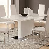 Cheap Glossy White Contemporary Dining Table
