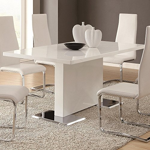 Glossy White Contemporary Dining Table (Contemporary Dining Room Table)