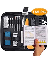 Paxcoo 168Pcs Watch Repair Tools Kit Watch Opener Spring Bar Tool Watch Band Link Pin Back Remover Tool